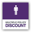 Multiple policy discount