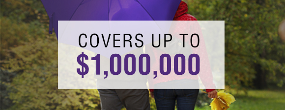 Covers up to $1,000,000
